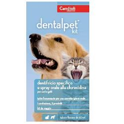 Dentalpet Kit dentifricio 50ml + spray 50ml + ditale