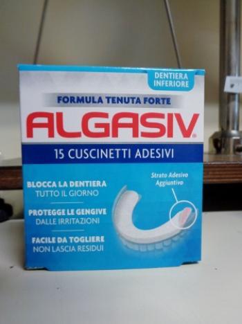 Algasiv Dentiera Inferiore 15 Cuscinetti Adesivi