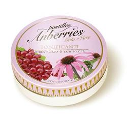 ANBERRIES GOLA E VOCE, caramelle gusto ribes rosso-echinacea