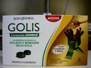Body spring golis caramelle x la gola, gusto Liquirizia e Miele