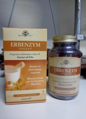 Erbenzym Digest capsule vegetali, con Enzimi ed Erbe