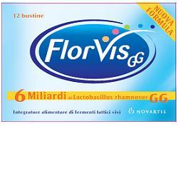 FLORVIS 12 bustine orosolubili, fermenti lattici probiotici