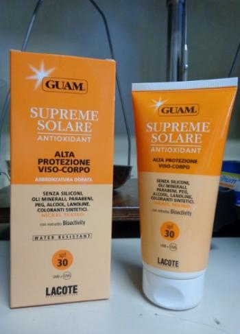 GUAM Solare Supreme SPF 30 Protezione Media UVA e UVB