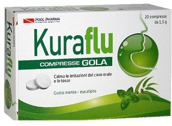 Kuraflu compresse Gola, gusto Menta Eucalipto