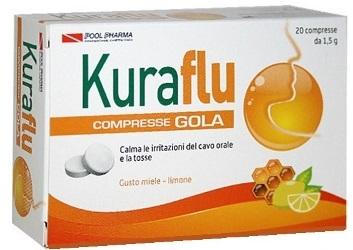 Kuraflu compresse Gola, gusto Miele Limone