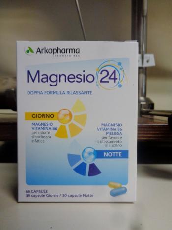MAGNESIO 24, integratore dalla doppia formula rilassante