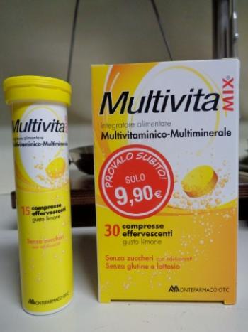 MultivitaMix effervescente, Multivitaminico e Multiminerale