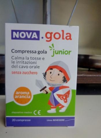 Nova Gola Junior gusto Arancia con Vitamina C compresse