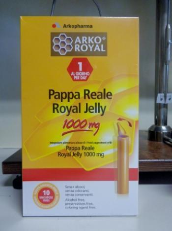 Pappa Reale Arkofarm in flaconi da 1000 mg 20 flaconcini
