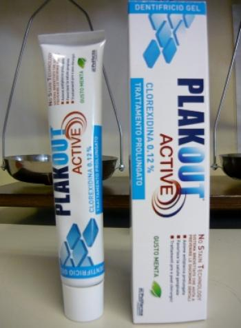 PLAK OUT ACTIVE DENTIFRICIO 0,12% - CLOREXIDINA