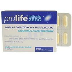 PROLIFE lattosio zero 30 capsule, fermenti lattici e vitamina B