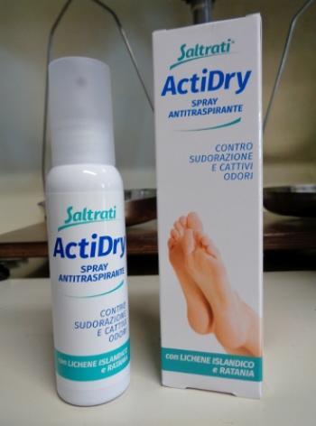 Saltrati ActiDry spray antitraspirante, per piedi freschi ed asc
