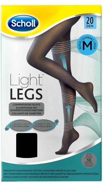 Scholl Light Legs 20 denari Medium colore Nero