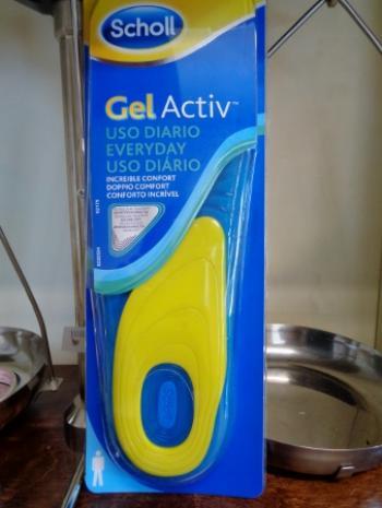 Scholl's Gel Activ Uso Diario Uomo, Soletta Morbida per Scarpa