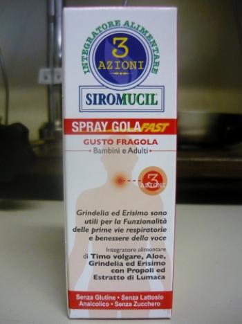 SIROMUCIL 3 azioni SPRAY GOLA FAST