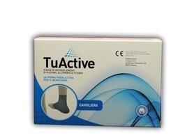 Tuactive cavigliera S/M, fibra attiva per il benessere
